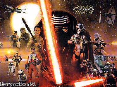 Star Wars: Episode 7 VII 2015 - 11x17 13x19 The Force Awakens Movie Poster