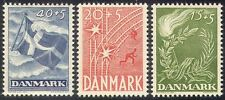 Denmark 1947 Liberation/Rail/Railway/Flag/Flame/Torch/Military 3v set (n40997)