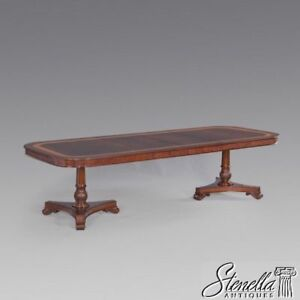 Image Is Loading 40822 Flame Mahogany Pedestal Base Regency Style Dining