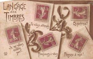 Cartolina-Langage-des-Timbres-vischio
