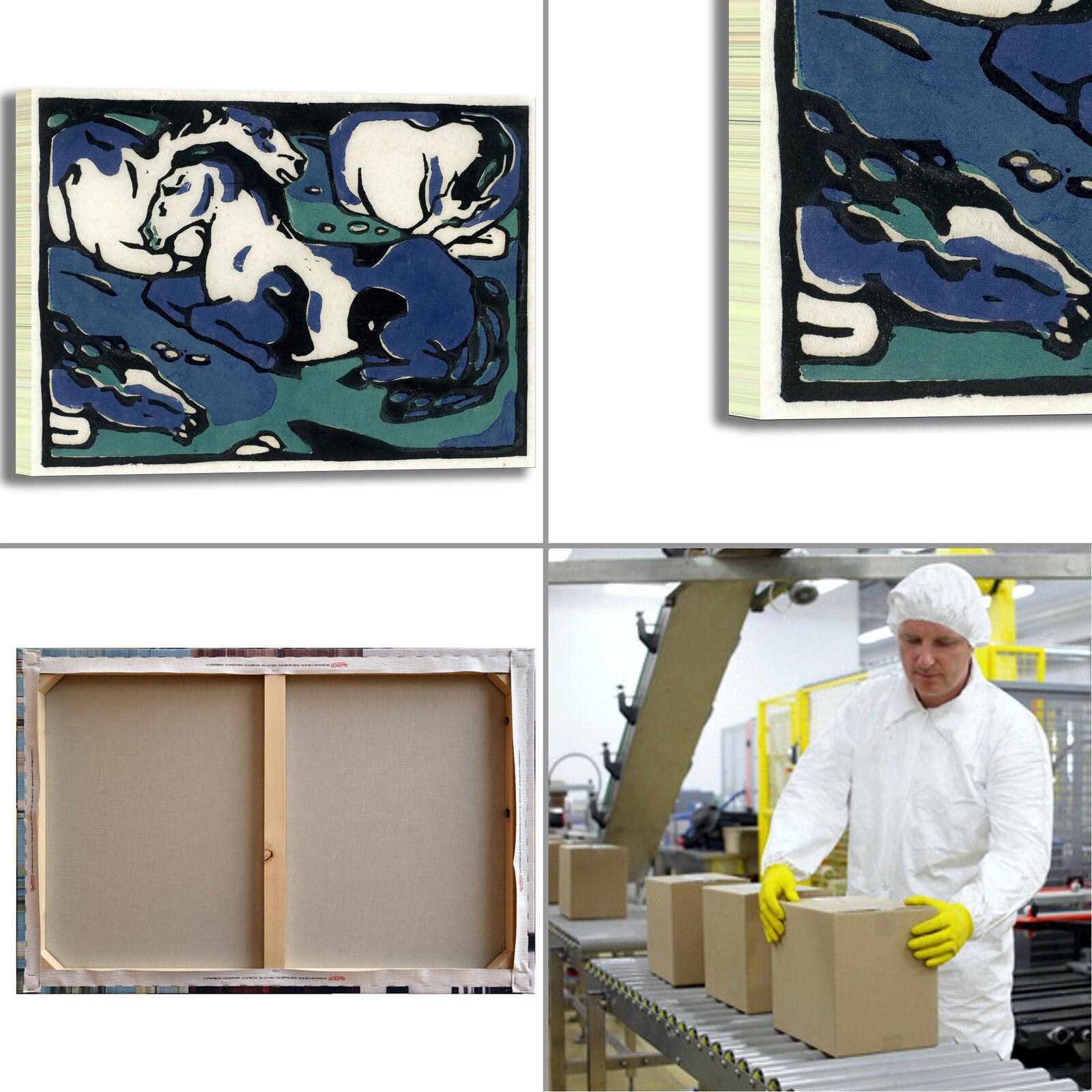 Franz Marc riposo dei cavalli quadro stampa tela casa dipinto telaio arRouge o casa tela 47b2a6