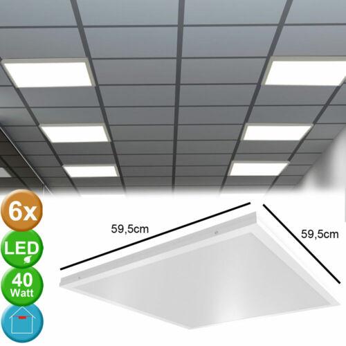 6x LED Ein Aufbau Panel Strahler Decken 40 Watt  Arbeits Zimmer Lampen kaltweiß