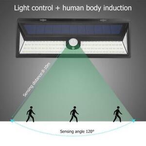 2x-118LED-Solaire-Lampe-Lumiere-PIR-Detecteur-de-Mouvement-Exterieur-Jardin-IP65