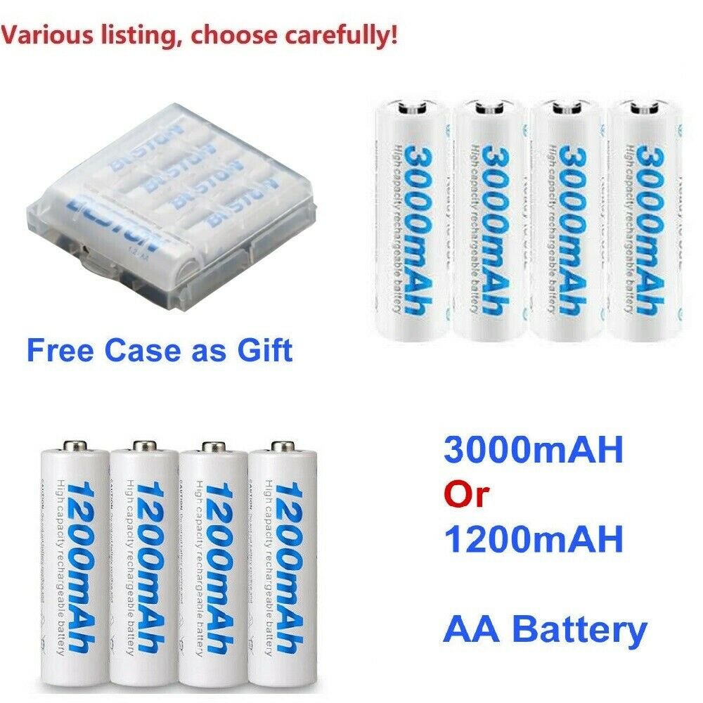 3000mAh or 1200mah AA Rechargeable Batteries NI-MH for Xbox ONE S X Controller