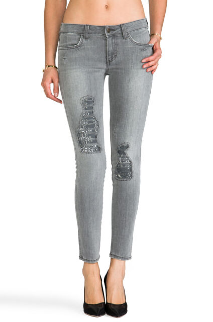 SIWY DENIM Hannah Destroyed Ankle Skinny Jeans in Stow Away Grey 23 $228 #43