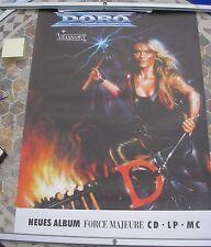 DORO/WARLOCK Force Majeure tour poster 33 x 23 1989