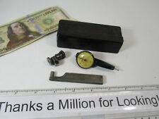 Federal Testmaster Dial Indicator Set M 1 X 001 Grads Mount Snug Case Vg