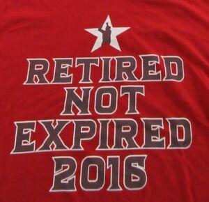 meet 6de74 286ed Details about David Ortiz BIG PAPI #34 Retired Not Expired 2016 Dominican  Flag T Shirt Sz XXL