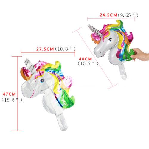 2Pcs Jumbo Rainbow Unicorn Balloon Head Shaped Horse Birthday Party Decoration