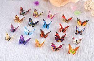9cm Simulation Butterfly Fridge Magnet Sticker 20pcs mix color Kitchen Decorate