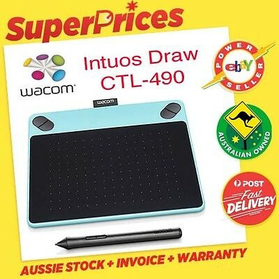 Wacom◉INTUOS DRAW CTL-490/W0-C◉BLUE◉Small PEN Graphics Tablet◉PICKUP ONLY◉