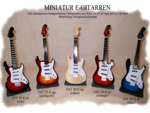 GIT 20 E na Miniatur E-Gitarre in Naturfarbe 20 cm