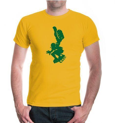 Herren Unisex Kurzarm T-Shirt Inlineskating Comicfigur skaten Funsport