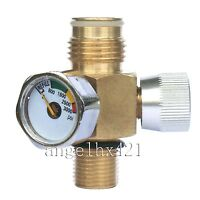 Paintball Co2 Tank On/off Valve With 3000 Psi Gauge