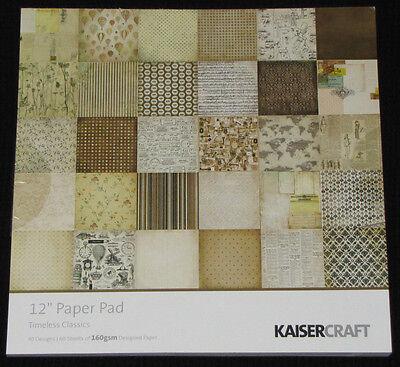 """Kaisercraft 'timeless' 12x12"""" Paper Pad - 60 Sheets (30 Designs X2) Kaiser Aantrekkelijk Uiterlijk"""