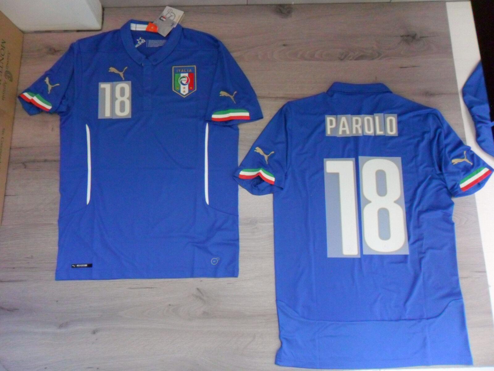 FW14 PUMA S HOME ITALIA 18 PAROLO CAMISETA MUNDIALES SHIRT JERSEY