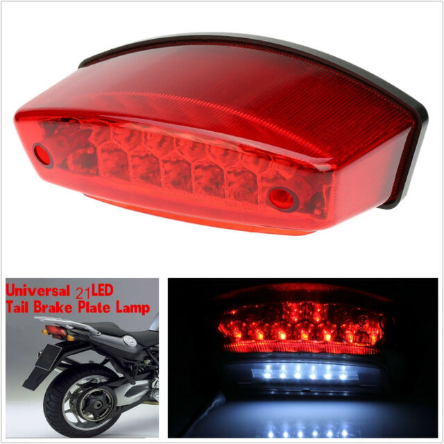 Dc 12v Universal Led Motorcycle Quads Maltese Cross Tail Brake Lamps Rear Lights Electric Vehicle Parts