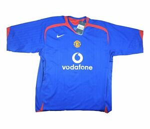 Manchester United 2005-06 Authentic Away Shirt (eccellente) XXXL Soccer Jersey