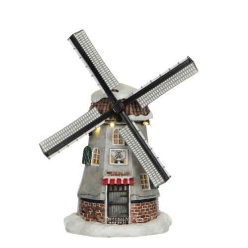 animiert mit Mühlenflügel LUVILLE 1031288 Dutch Mill Weihnachtsdorf