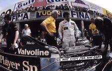 9x6 Photograph  Mario Andretti & Colin Chapman  Lotus 79  Italian GP Monza 1978