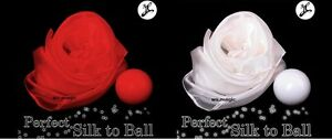 Perfect Silk to Ball RED (Automatic) JL Magic Trick Multiplying Stage Parlor T11