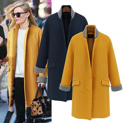HOT Sell  Fashion Women's Autumn Winter Warm Long Woollen Trench Coat Jackets