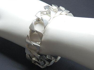 Herzhaft Massives Panzerarmband In 800 Silber Herren Armband Silberarmband Ausgezeichnet Im Kisseneffekt