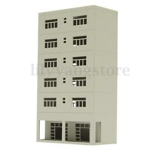 1-87-HO-Scale-White-Building-HO069-For-Outland-Models-Train-Railway-Layout
