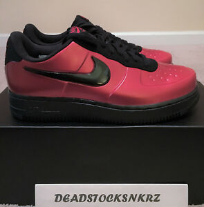 size 40 df5db 57a9e Details about Nike AF1 Air Force 1 Foamposite Pro Cup Gym Red Black AJ3664  601 Men's Sizes 8-9