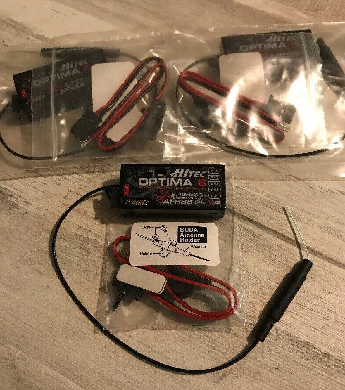 Hitec  Optima 6 RX (3) 2.4Ghz receivers  sconti e altro