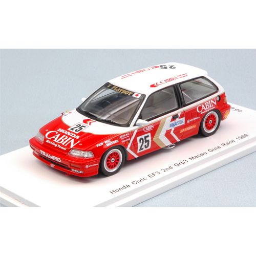 HONDA CIVIC EF3 N.25 2nd MACAU GUIA RACE 1989 YASUO MURAMATSU 1:43 Spark Model