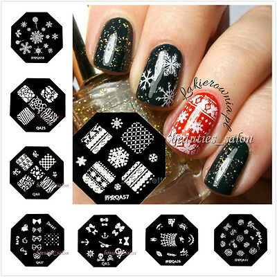 60 Designs Nail Art Stamp Plate Polish Stamping Manicure Image Template DIY