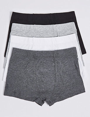 3 PACK BOYS TRUNKS BOXERS PANTS 5-6 YEARS WHITE NEW MARKS /& SPENCER FINE COTTON