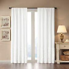 Item 5 Madison Park Bessie 63 Inch Rod Pocket Window Curtain Panel In White