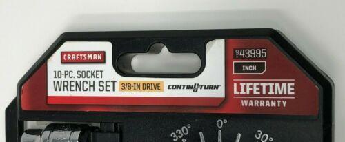 "Steel SAE 3//8/"" Drive Dual Drive Ratchet 10 pc. Offset Handle Craftsman 43995"