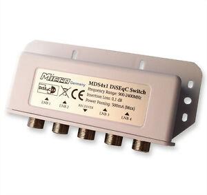 Micro-DiSEqC-Switch-Schalter-MDS-4x1-Full-HD-Wetterschutz-NEU