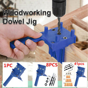 Locator Hole Puncher Woodworking Doweling Jig Pocket Hole Jig Drill Guide Set