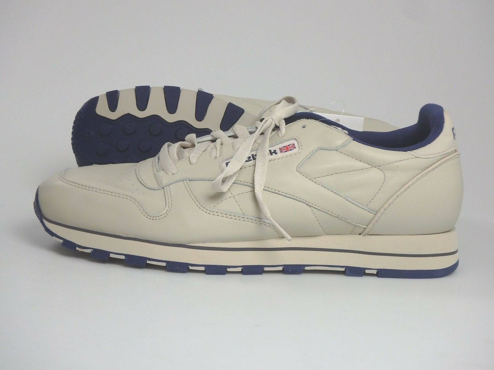 Reebok #25027 Claasic Leather Sneaker Freizeit Schuhe Herren Gr. 45,5 Beige