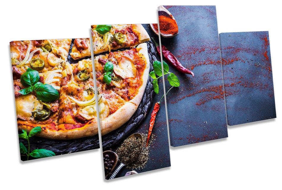 Italian Pizza Kitchen Picture MULTI CANVAS WALL ART Print
