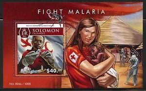 SOLOMON ISLANDS 2015 FIGHT MALARIA RED CROSS SOUVENIR SHEET MINT NH