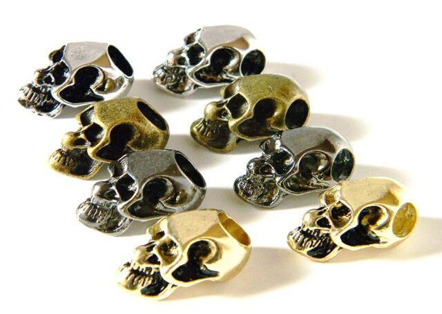 16 Metal Skulls Vertical/Horizontal Chrome/Black/Gold/Bronze Paracord Bracelets