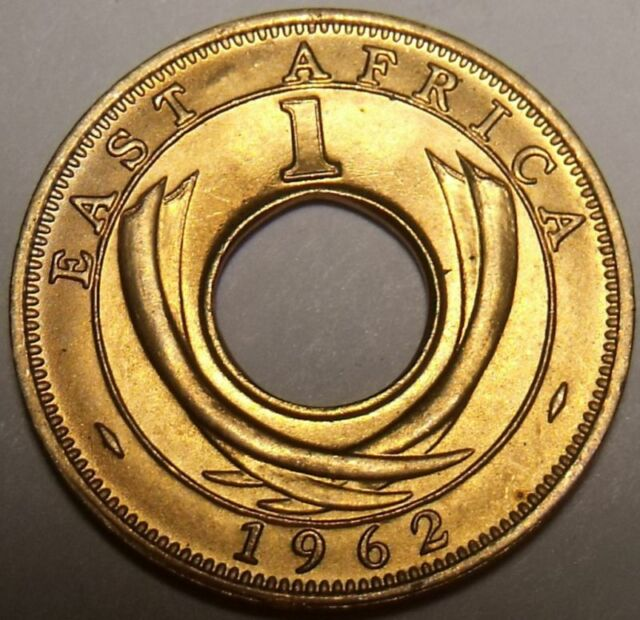 Gem Uncirculated East Africa 1962-H Cent~Hole In Center~Free Shipping