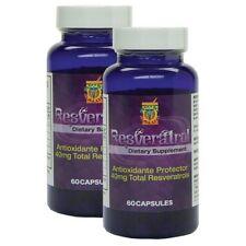 Resveratrol alta potencia. Set de 2 Frascos con 60 caps c/u Regenerador celular.