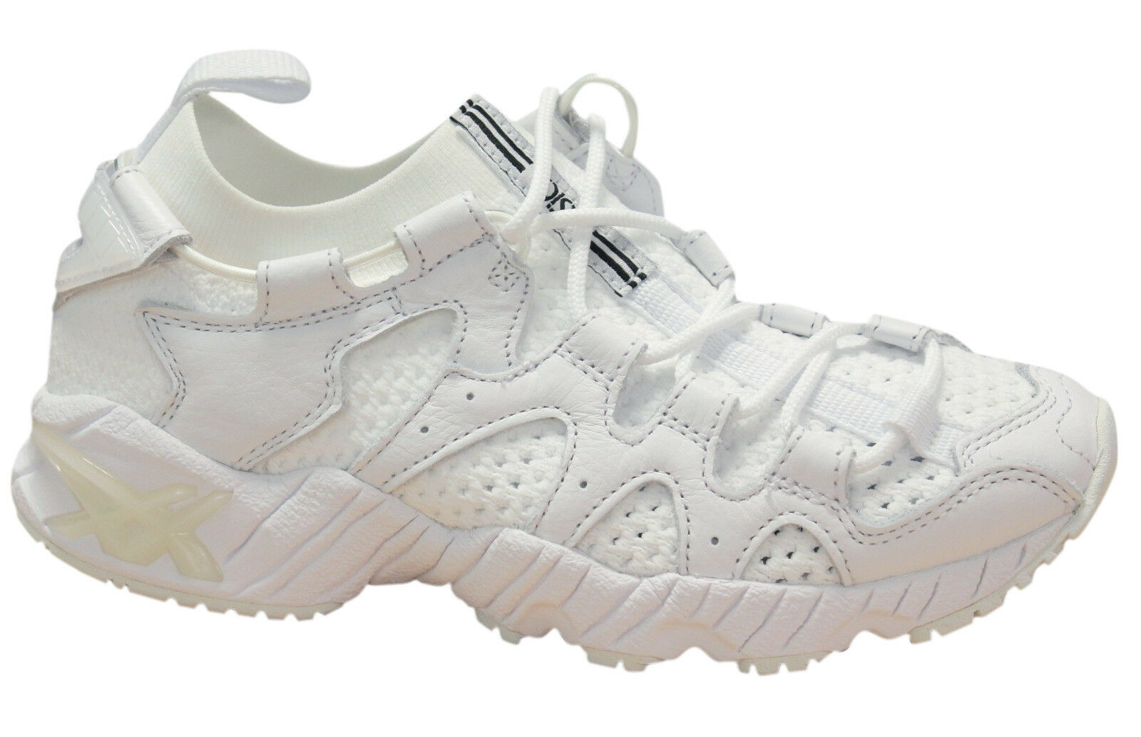 Asics Gel-Mai Knit   Herren Trainers Lace Up Sock Style Schuhe Weiß H8G3N 0101 U13