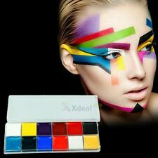 12 Colors Face Body Oil Painting Art DIY Make Up Halloween Party Fancy Dress