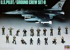 Hasegawa X48-5 1/48 Aircraft Navy Figure Model Kit U.S Pilot Ground Crew Set B