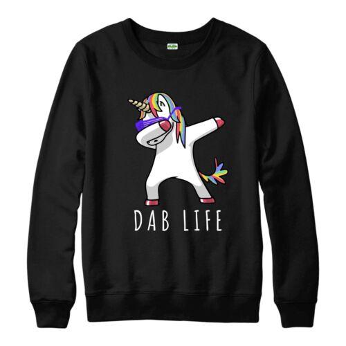 Unicorn tamponnant Pull hip hop drôle DAB vie frauduleux Adultes /& Enfants Neuf