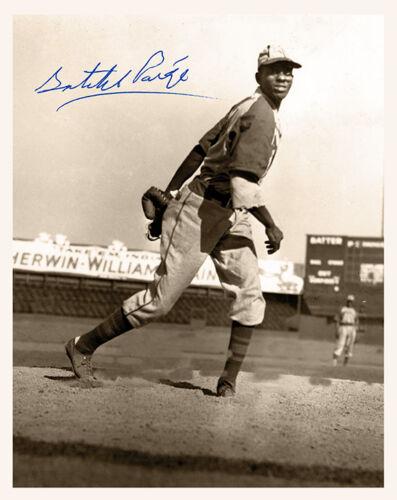 SATCHEL PAIGE Legendary KC Monarchs Baseball Great Historic Autograph RP 8X10