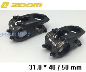ZOOM Mountain Road Bike Stem 28.6*31.8*50mm MTB Bicycle Bar Stem Aluminum Alloy