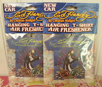 2 Ed Hardy By Christian Audigier Hanging T-shirt Air Freshener - Car Scent